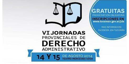 VI Jornadas Provinciales de Derecho Administrativo